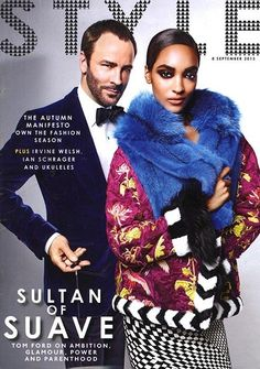 Tom Ford y Jourdan Dunn para Sunday Times Style Magazine, Septiembre 2013