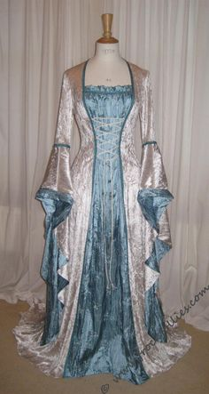 Items similar to ISABELLA, a Renaissance, Medieval, Pre-Raphaelite Wedding Dress, LARP or Prom Dress on Etsy – wedding gown Costume Steampunk, Medieval Costume, Medieval Dress, Renaissance Dresses, Renaissance Wedding, Royal Dresses, Prom Dresses, Linen Dresses, Outfits