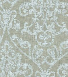 curtain fabric for den - Waverly adornment silver