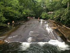 Sliding Rock in Asheville, North Carolina. - The one I've been to on a list of 14 swimming holes to visit in the U.S.