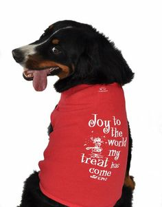 $19.67 Ruff Ruff and Meow Dog #Tank #Top, Joy to the World, Red, Medium. Even your Pets need to enjoy the festive time....