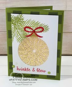Stampin' UP! Foil Snowflake Christmas card idea by Patty Bennett, featuring Holiday catalog products.