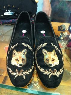 + kate sylvester fox slippers