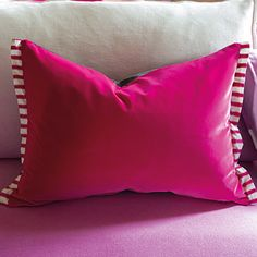 Varese Fuchsia - Elegant Velvet Throw Pillow | Designers Guild USA