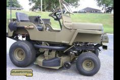 Jeep lawn mower... want one!!!