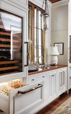 Design Chic: Kitchen Organization - mybungalow.org- I like the light fixture