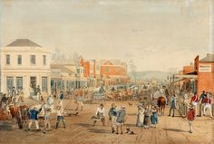 John and Catherine Mason arrived in Adelaide in when the colony in South Australia was still very new. The picture shows Rundle Street, Adelaide in by S. Image from the State Library of South Australia Australian Painting, Australian Artists, Australia House, Australia Travel, Adelaide South Australia, Most Popular Artists, Colour Images, The Book, Colonial