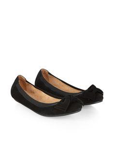 Sara Bow Elasticated Ballerina Shoes