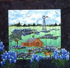 Bluebonnets of Texas - Quilting Daily