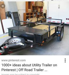 Simple utility trailer for kayaks.