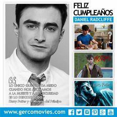 Feliz cumple 26 al actor #DanielRadcliffe Gracias por encarnar al famoso y genial mago #HarryPotter y darle magia al cine. ¡Felicidades!
