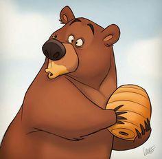 S. T. Lewis #bear #honey #bee