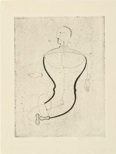 Oskar Schlemmer. Abstract Figure, Facing Left: Figure S (Abstrakte Figur, nach links: Figur S) from Masters' Portfolio of the Staatliches Bauhaus (Meistermappe des Staatlichen Bauhauses). 1922 (published 1923)