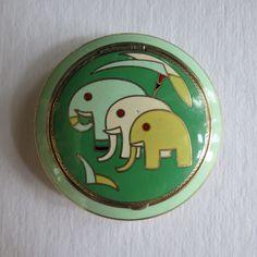 Art Deco elephant compact