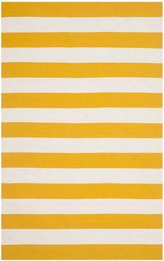 Safavieh Montauk MTK712A Yellow Rug | Contemporary Rugs