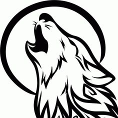 How to Draw a Howling Wolf Tattoo Tribal Howling Wolf Step by Step Tattoos Pop Culture FREE Online Drawing Tutorial Added by Dawn Sep. Tribal Wolf Tattoo, Wolf Tattoo Design, Tribal Tattoos, Howling Wolf Tattoo, Wolf Howling, Wolf Drawing Easy, Wolf Head Drawing, Lobo Tribal, Wolf Stencil