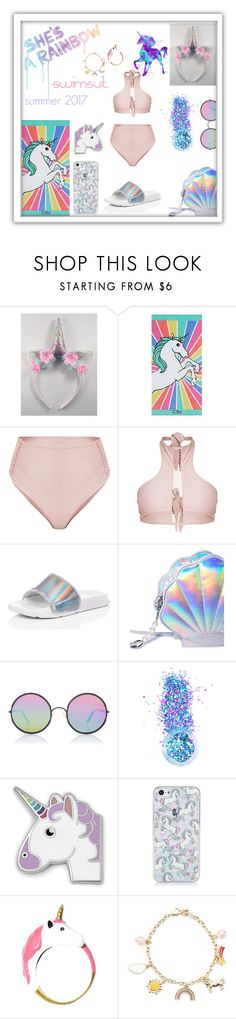 """""""Untitled #295"""" by ninkja ❤ liked on Polyvore featuring PBteen, Hudson Jeans, SpyLoveBuy, Sunday Somewhere, In Your Dreams, FOSSIL and Forever 21"""