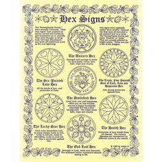 Hex Signs A4 Pagan Poster
