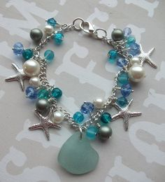 Scottish Sea Glass Starfish and  Glass Crystal by byNaturesDesign, $25.00