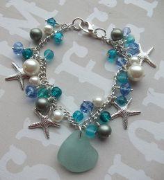 Scottish Sea Glass Starfish and  Glass Crystal by byNaturesDesign, $25.00