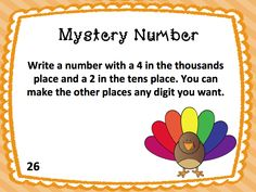 Decimal Place Value Mystery Numbers. Thanksgiving. Task Card Set.