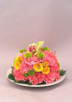 Fun flower cake piece- flowers by Candice mineau