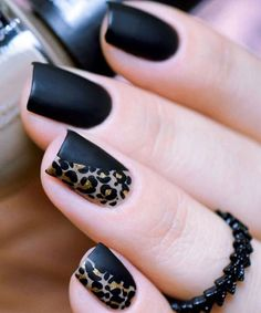 Amazing Leopard Black Nail Art Ideas That Make You Swoon