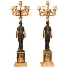 Pair of French Empire Candelabras Lustry ca8d599d19