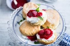 Pantry staples transformed into dainty tea-time treats. Five Ingredients, Fresh Cream, Tray Bakes, Scones, Love Food, Delicious Desserts, Sweet Treats, Butter, Favorite Recipes