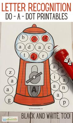 Kids will have fun working on letter recognition with these free ABC Printable worksheets for toddler, preschool, pre k, and kindergarten age students. Abc Printable, Printable Worksheets, Printables, Kindergarten Learning, Kindergarten Worksheets, Free Worksheets For Kids, Abc Coloring Pages, Do A Dot, Teaching The Alphabet