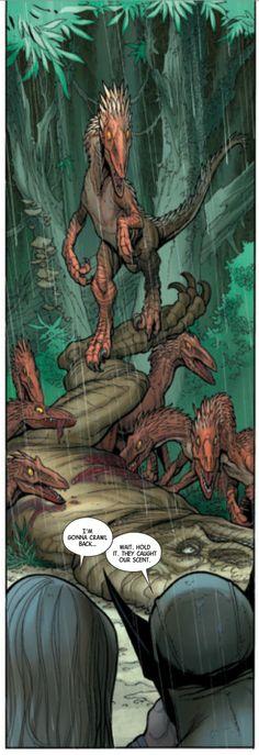 Wolverine ja Shanna jännässä paikassa. #Egmont #Marvel# kirjamessut #utahraptor