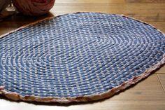 Sew | Braided Rag Rug | Free Pattern & Tutorial at CraftPassion.com