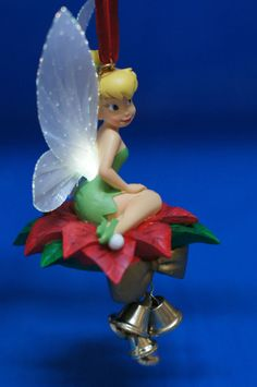 Tinker Bell Light-Up Resin Christmas Ornament 2008 Disney Store Peter Pan #DisneyStore #ChristmasOrnament
