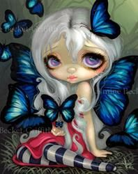 Art: Blue Morpho - For the Strangeling Experience VISA Card by Artist Jasmine Ann Becket-Griffith
