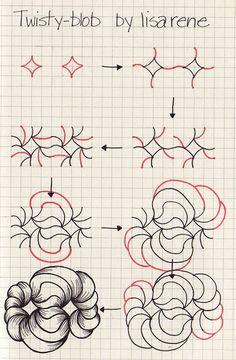 Zentangle technique - twisty blob