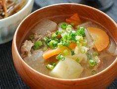 Japanese soup  豚汁 - Google 検索