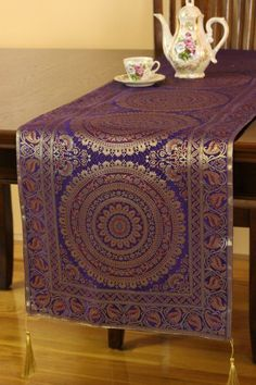 35 Exotic Oriental Table Runner Banarsi Designs