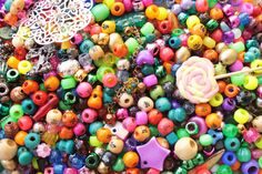 GIANT Bag of colourful beads £13.00