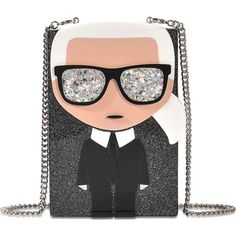 Karl Lagerfeld k/ikonik karl minaudiere (2.626.760 IDR) ❤ liked on Polyvore featuring bags, handbags, clutches, black, karl lagerfeld handbags, karl lagerfeld and karl lagerfeld purse