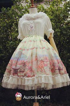 [AA lolita fanshion] Garden of jam garden jam sk Chiffon skirts - Taobao global Station