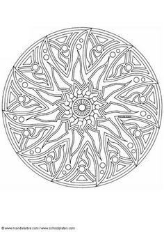 Kleurplaat mandala-1702p