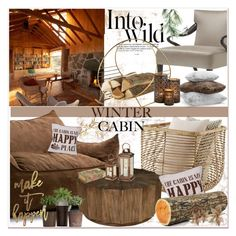 """""""Into the Woods: Cozy Cabin"""" by selmir ❤ liked on Polyvore featuring interior, interiors, interior design, home, home decor, interior decorating, Big Joe, Anja, Hudson Park and Eco Style"""
