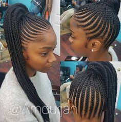 Flawless braided pony via @amourjah - https://blackhairinformation.com/hairstyle-gallery/flawless-braided-pony-via-amourjah/