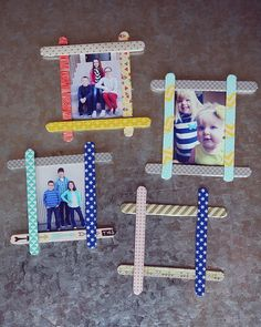 Photo Frames- put magnets on the back take the picture Dec 1st each year and add to tree