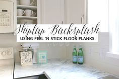 Use peel and stick flooring as a backsplash- genius! Maybe for the laundry room?