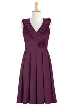 #Purple #Bridesmaids #Dress, #eShakti