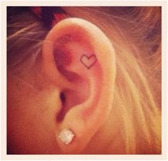 placement - instead of heart, a small cross or reference to bible verse about listening  Psalm 81, Job 37:13-15....