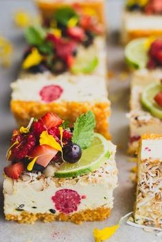 End of summer tropical slice with fresh berry salsa | vegan gluten-free