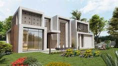 Al Wukair Villas project is a unique design that bares contemporary Islamic architectural style built on an area of approximately m². Interior Architecture, Interior Design, Floor To Ceiling Windows, Open Up, Contemporary Decor, Water Features, Villas, Entrance, Living Spaces