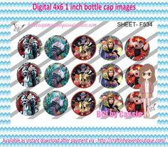 "1"" Bottle Caps (4X6) F534 Disney Villians  CARTOONS/KIDS BOTTLE CAP IMAGES #cartoons #inspired #kids #bottlecap #BCI #shrinkydinkimages #bowcenters #hairbows #bowmaking #ironon #printables #printyourself #digitaltransfer #doityourself #transfer #ribbongraphics #ribbon #shirtprint #tshirt #digitalart #diy #digital #graphicdesign please purchase via link  http://craftinheavenboutique.com/index.php?main_page=index&cPath=323_533_42_54"